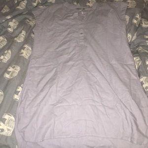 Linen tshirt dress